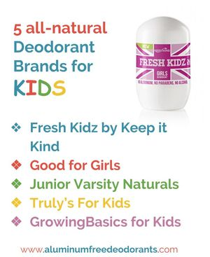 Naturaldeodorant Brands for Kids