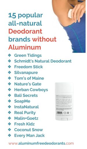 Popular all natural aluminumfree deodorants